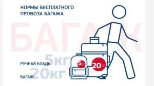 Нормы бесплатного провоза багажа авиакомпании